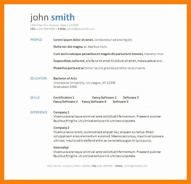 Microsoft Word Resume Templates 2007 New 9 10 Microsoft Word Resume Layouts