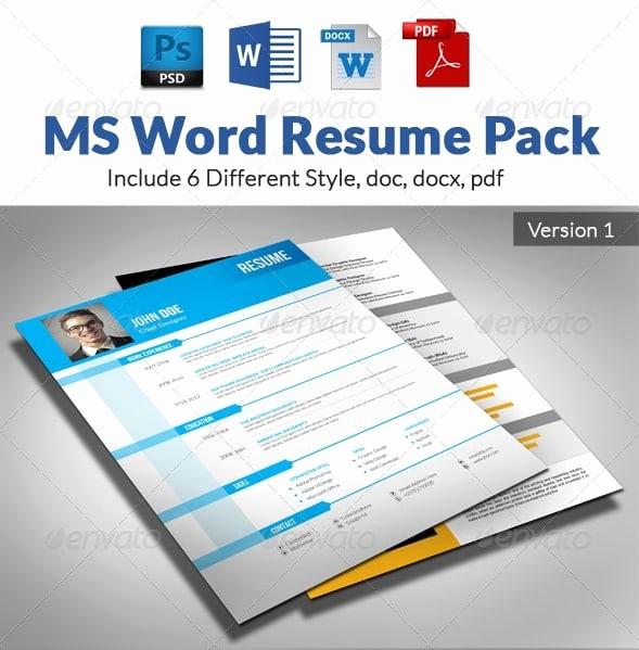 Microsoft Word Resume Templates 2014 Beautiful Awesome Free Resume Cv Templates 56pixels