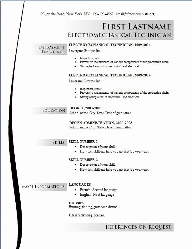 Microsoft Word Resume Templates 2014 Luxury 2014 Resume Templates