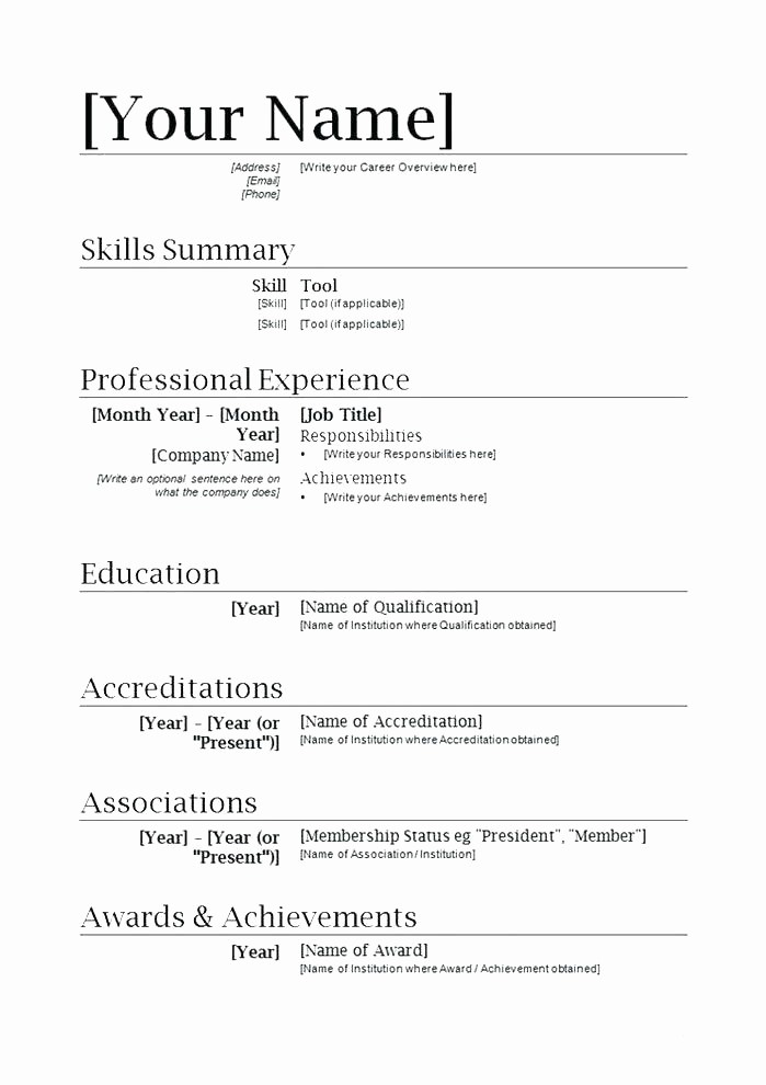 Microsoft Word Resume Templates 2014 New Fice Resume Templates How to Create A Great Customized