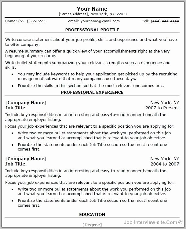 Microsoft Word Resume Templates 2014 New Free Resume Templates Microsoft Word 2014 Resume