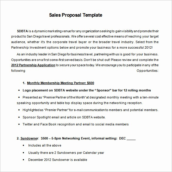 Microsoft Word Sales Proposal Template Beautiful Proposal Templates – 140 Free Word Pdf format Download