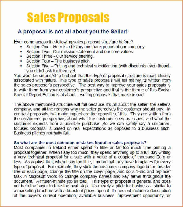 Microsoft Word Sales Proposal Template Beautiful Sales Proposal Template Business Proposal Templated