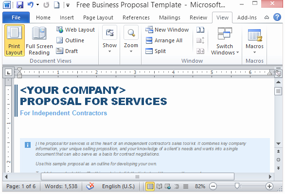 Microsoft Word Sales Proposal Template Elegant Free Services Proposal Template