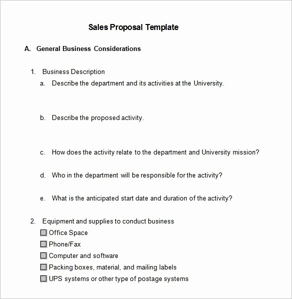 Microsoft Word Sales Proposal Template Inspirational Sales Proposal Templates 14 Free Sample Example