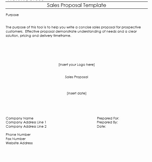 Microsoft Word Sales Proposal Template Lovely 9 Free Sample Sales Proposal Templates Printable Samples