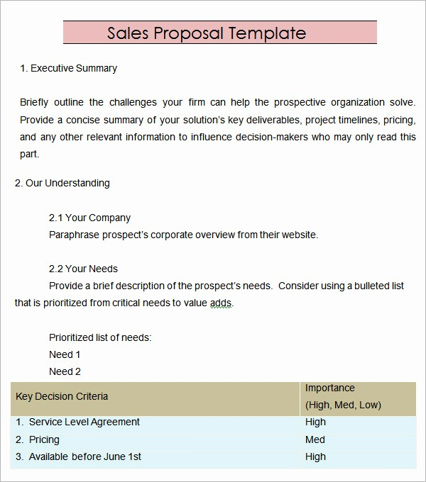 Microsoft Word Sales Proposal Template Unique Sales Proposal Template 13 Download Free Documents In
