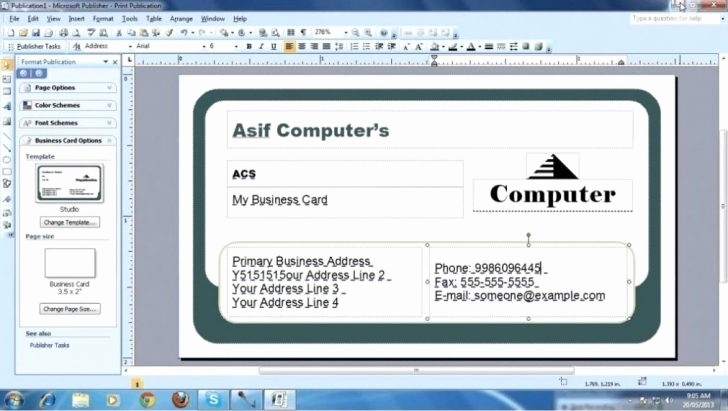 Microsoft Word Template Business Cards Awesome Microsoft Fice Business Card Template