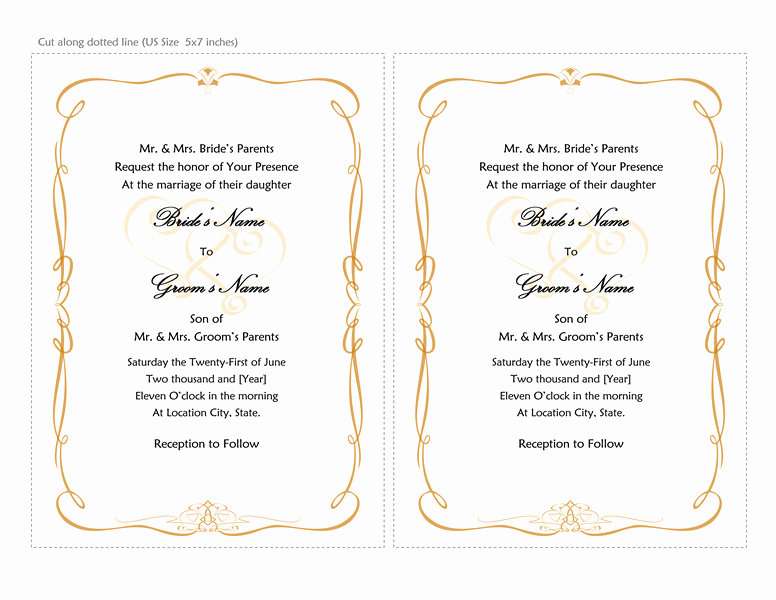 Microsoft Word Template for Invitations Awesome Microsoft Word 2013 Wedding Invitation Templates