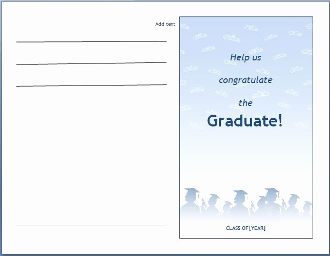 Microsoft Word Template for Invitations Awesome Ms Word Graduation Party Invitation Template