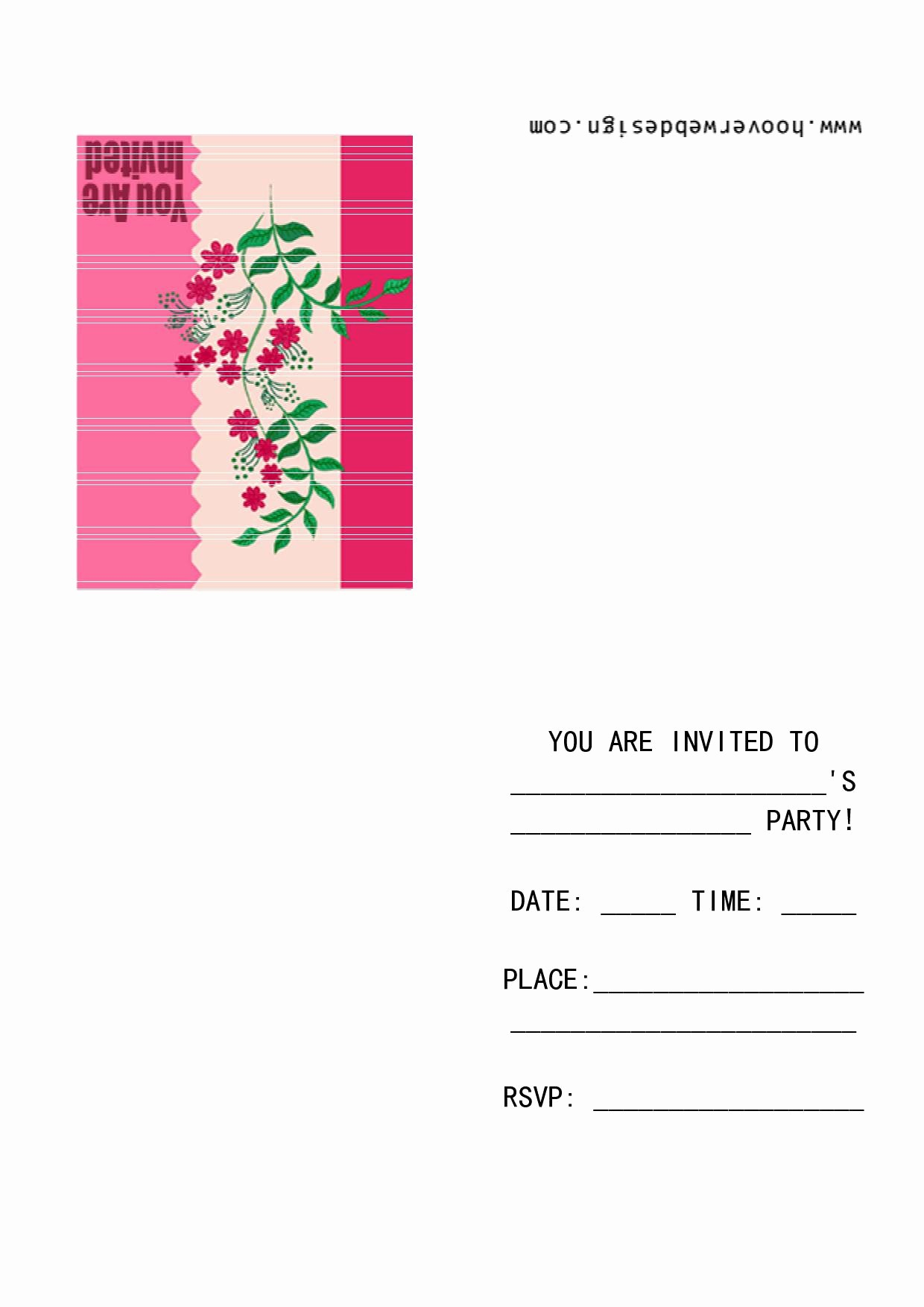 Microsoft Word Template for Invitations Awesome Party Invite Template
