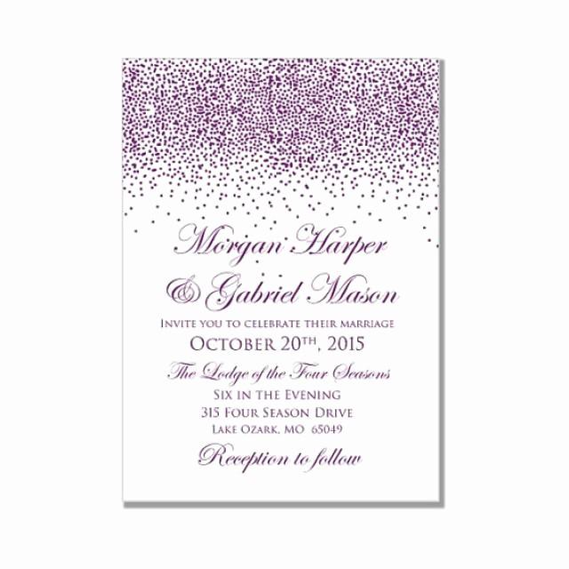 Microsoft Word Template for Invitations Beautiful Printable Wedding Invitation Purple Wedding Purple