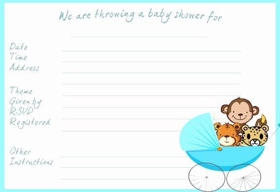 Microsoft Word Template for Invitations Best Of Baby Shower Invitation Templates Word