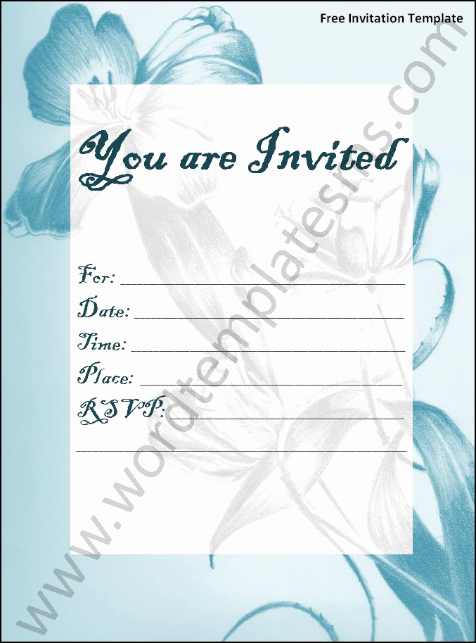 Microsoft Word Template for Invitations Inspirational Invitation Template Word