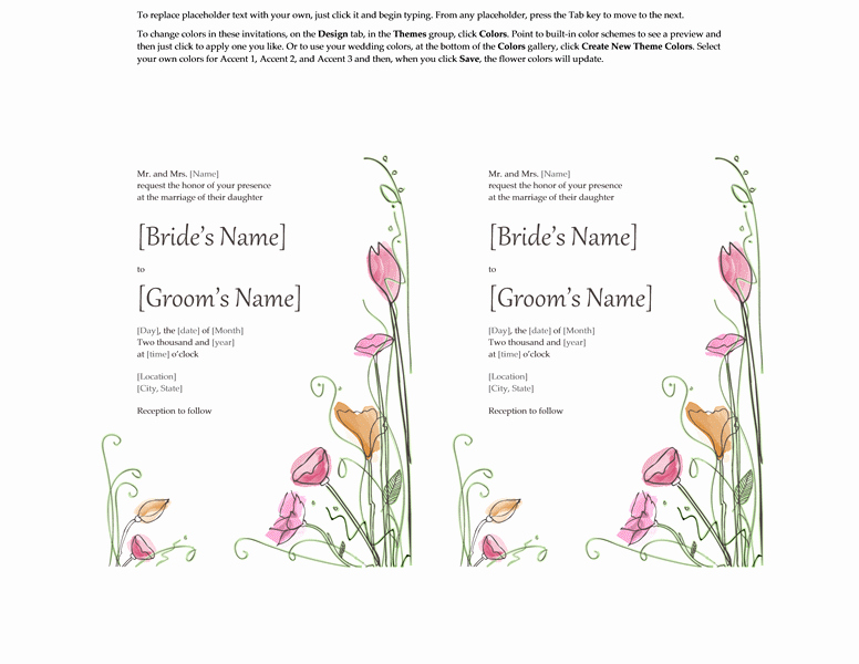Microsoft Word Template for Invitations Inspirational Microsoft Word 2013 Wedding Invitation Templates