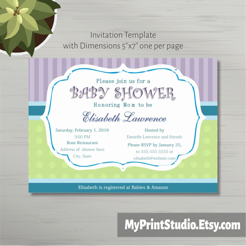 Microsoft Word Template for Invitations Inspirational Printable Baby Shower Invitation Template In Ms Word Boy Girl