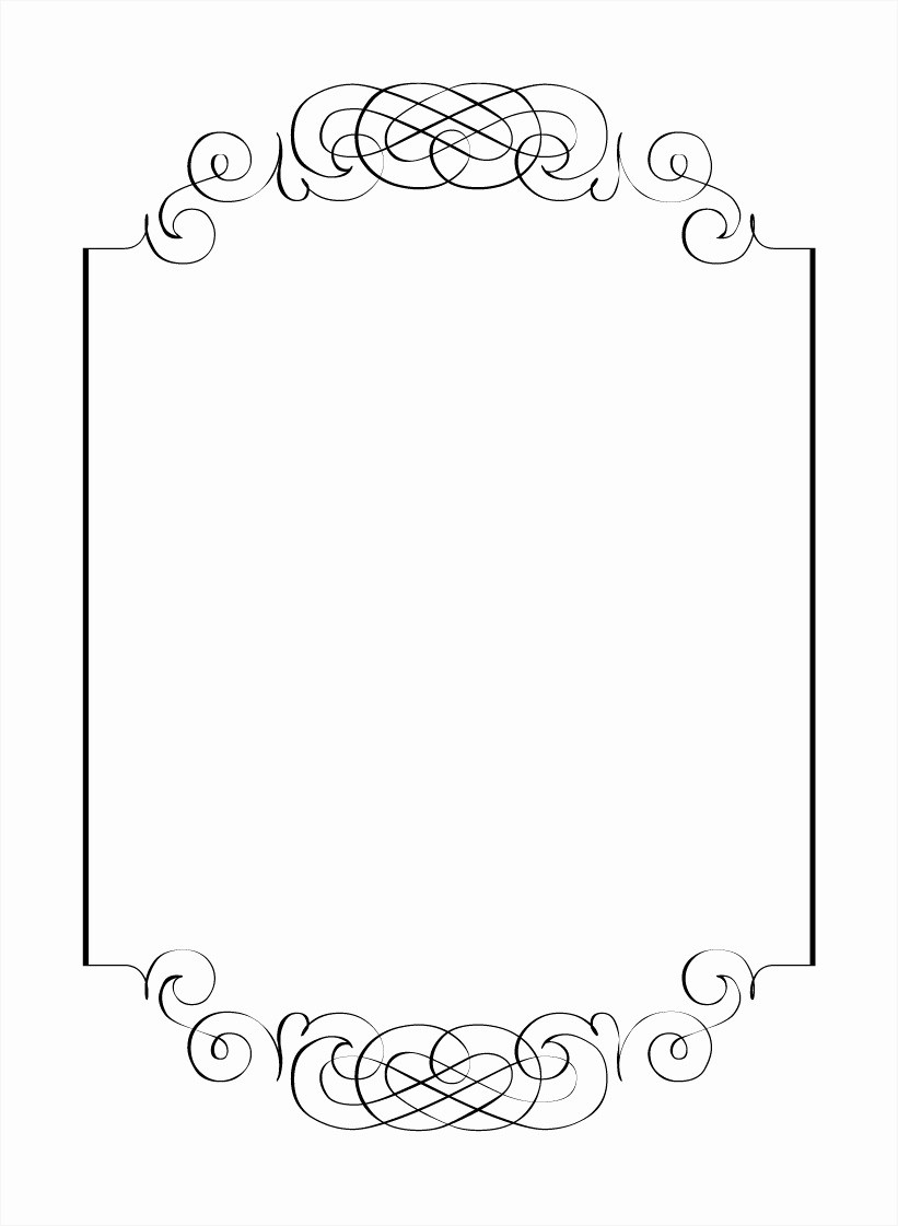 Microsoft Word Template for Invitations Lovely Border Templates for Word Example Mughals