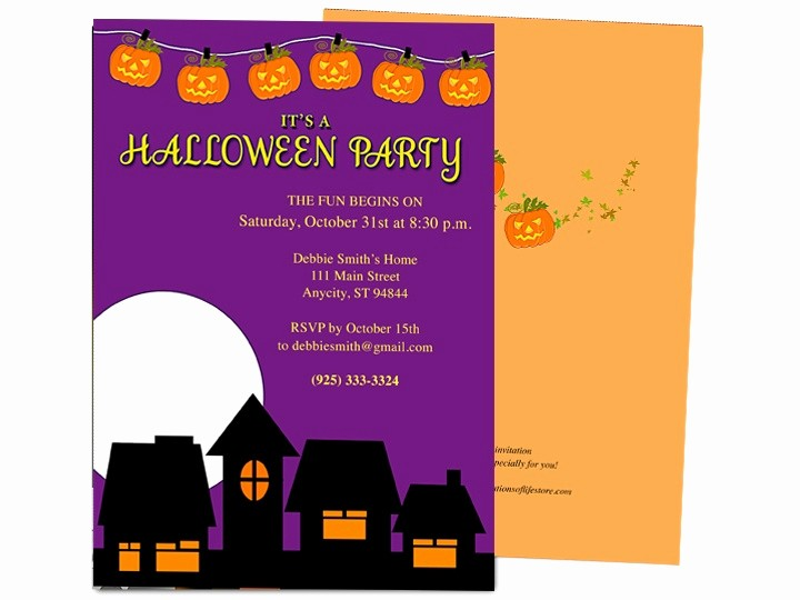 halloween invitation templates microsoft word