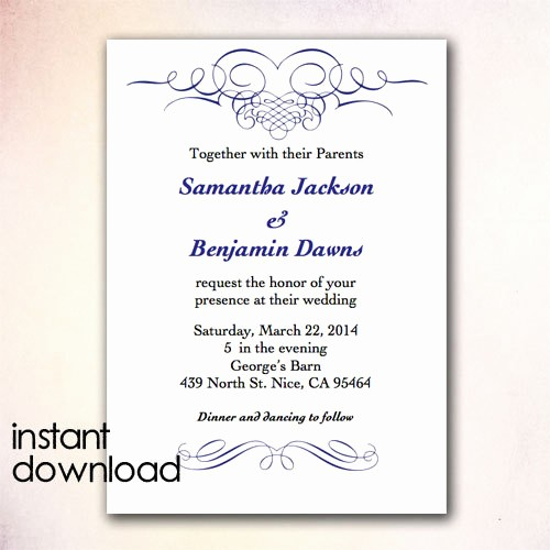 Microsoft Word Template for Invitations Lovely Wedding Card Template Word Templates Data