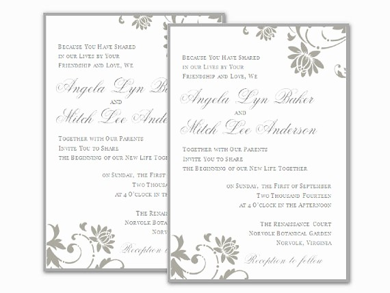 Microsoft Word Template for Invitations Unique Free Wedding Invitation Templates for Word
