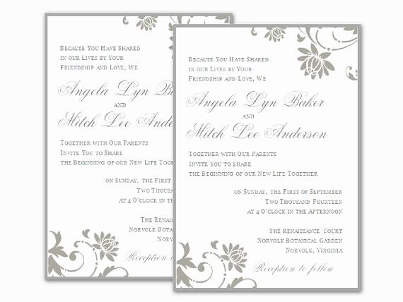 Microsoft Word Template for Invitations Unique Free Wedding Invitation Templates for Word