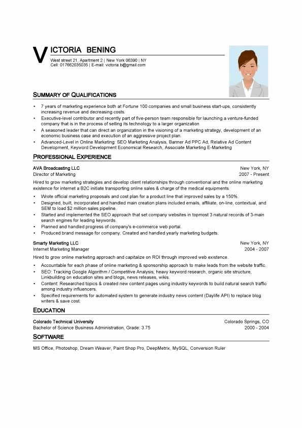 Microsoft Word Template for Resume Elegant Resume Template Word