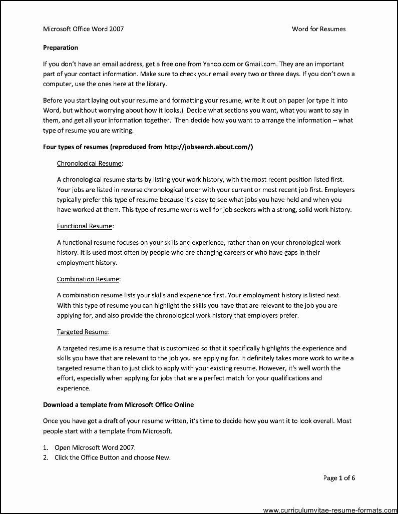 Microsoft Word Template for Resume Inspirational Ms Fice Resume Templates Free Samples Examples