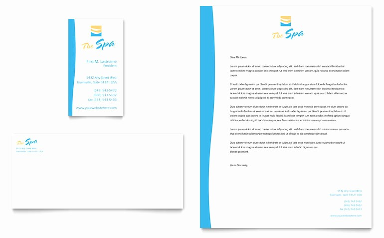 Microsoft Word Templates Business Cards Elegant Beauty Spa Business Card & Letterhead Template Word