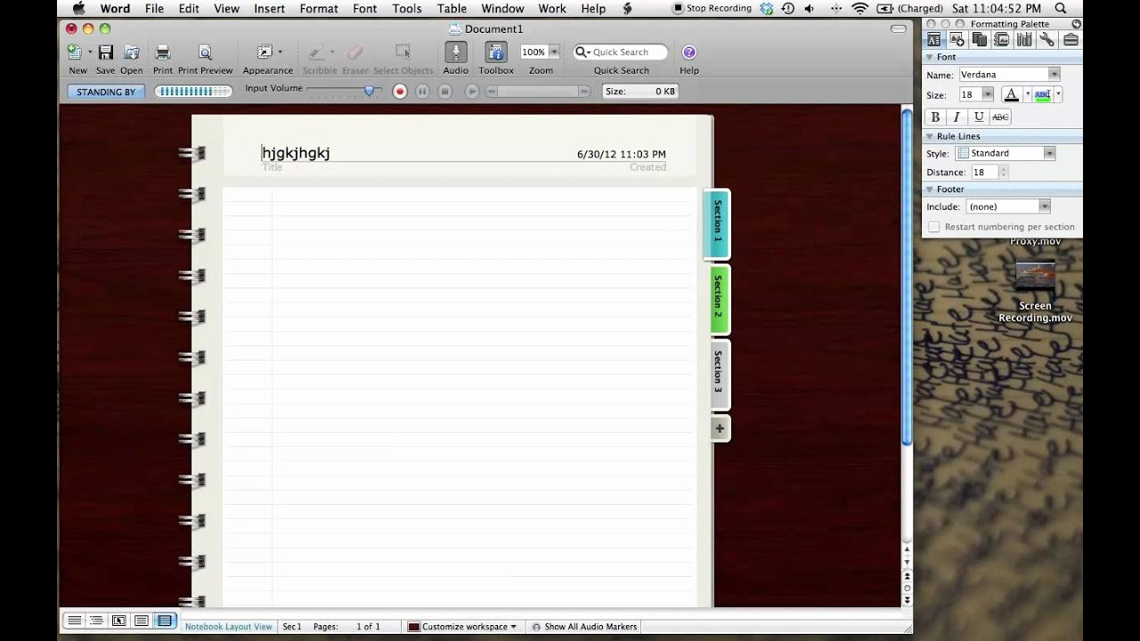 Microsoft Word Templates for Mac Fresh How to Mac Word Notebook Layout