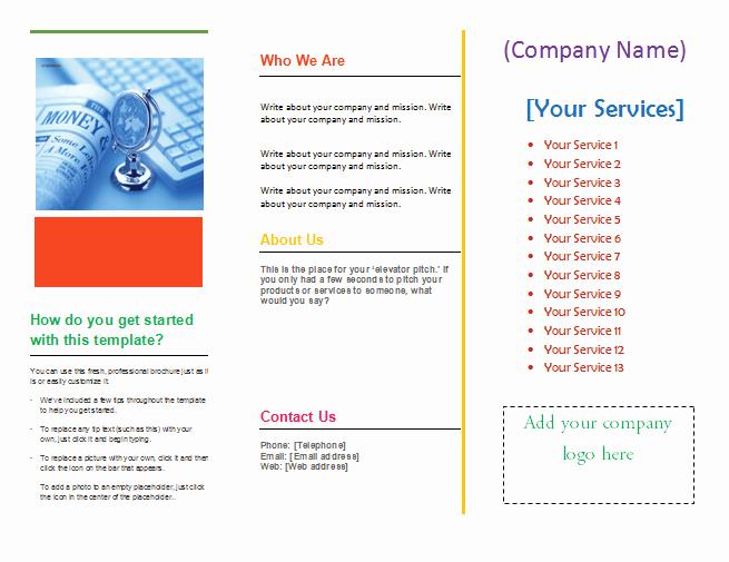 Microsoft Word Tri Fold Template Awesome Tri Fold Brochure Template Microsoft Word Templates