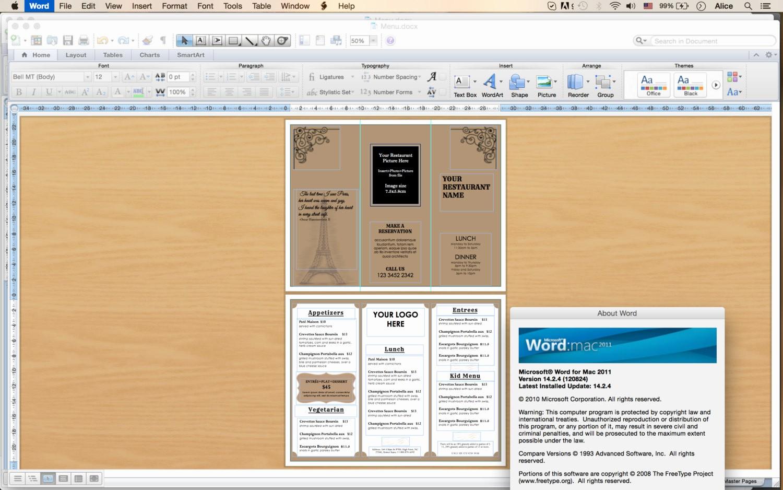 Microsoft Word Tri Fold Template Beautiful Design & Templates Tri Fold Take Out Menu Menu Templates