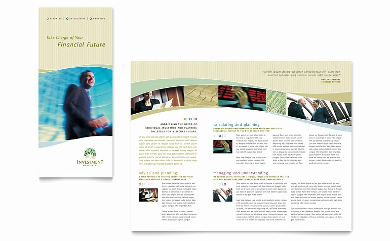 Microsoft Word Tri Fold Template Beautiful Investment Management Tri Fold Brochure Template Word