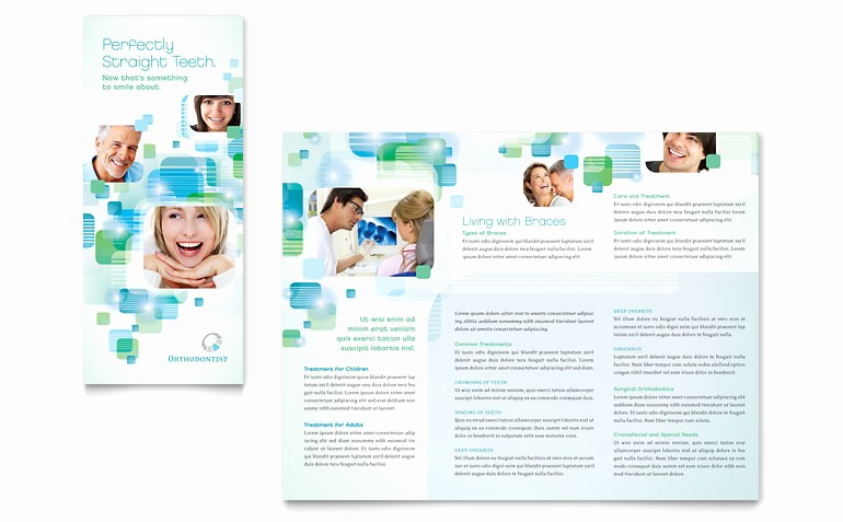Microsoft Word Tri Fold Template Beautiful orthodontist Tri Fold Brochure Template Word & Publisher