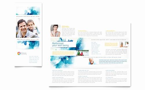 Microsoft Word Tri Fold Template Best Of Medical & Health Care Tri Fold Brochure Templates Word