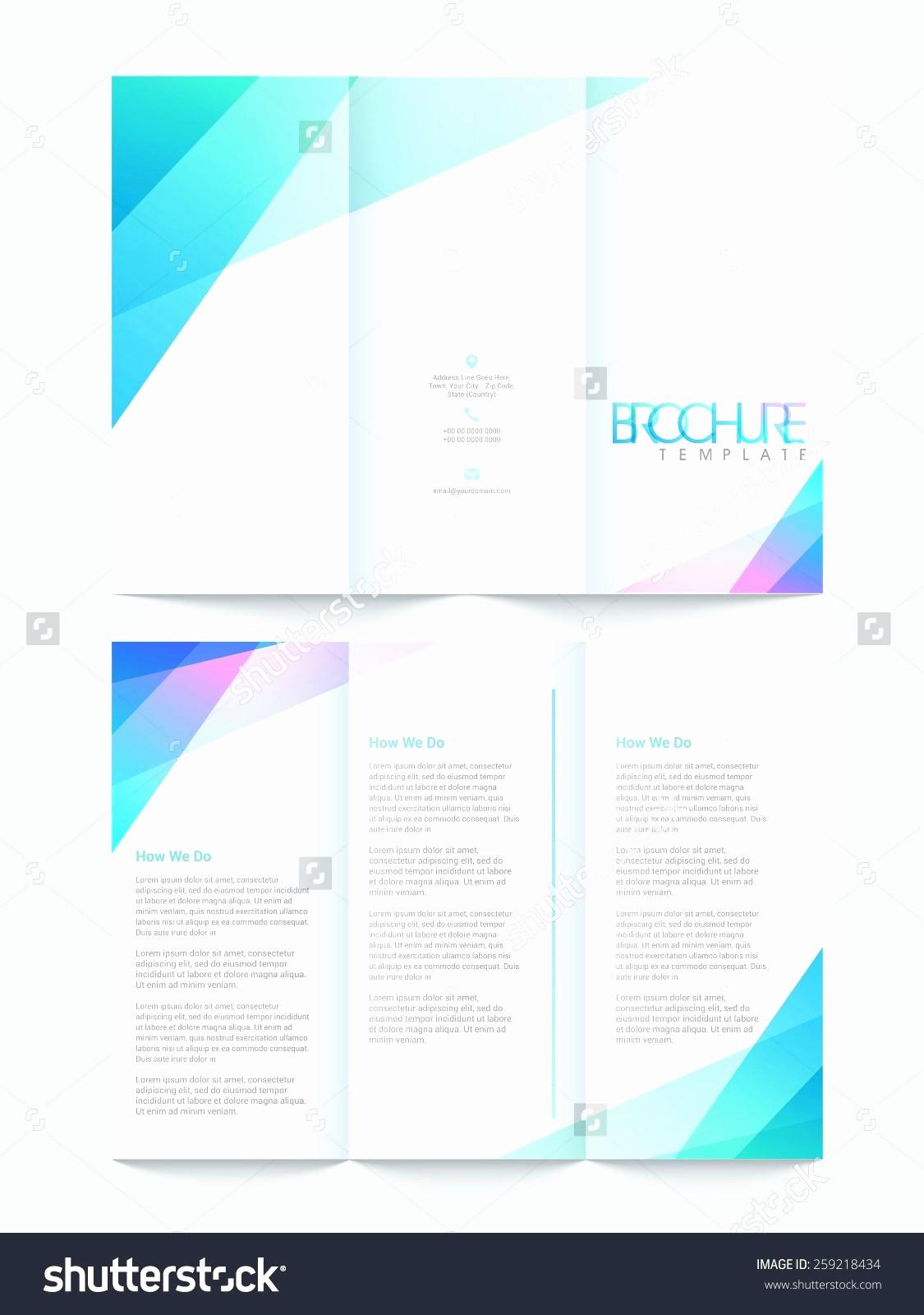 Microsoft Word Tri Fold Template New 50 Inspirational Free Tri Fold Brochure Template Word