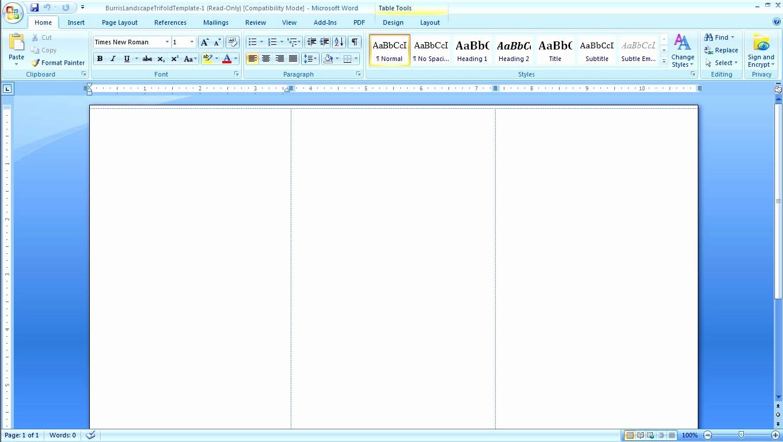 Microsoft Word Tri Fold Template New Blank Brochure Template Word Mughals