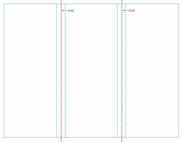 microsoft word tri fold template