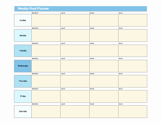 Microsoft Word Weekly Calendar Template Awesome 7 Free Weekly Planner Templates Excel Pdf formats