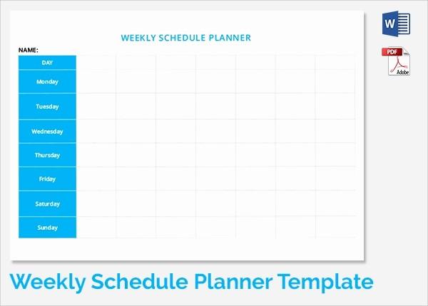 Microsoft Word Weekly Calendar Template Inspirational 35 Sample Weekly Schedule Templates