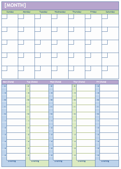 Microsoft Word Weekly Calendar Template Lovely Weekly Calendar Template Plan Daily or Weekly Tasks