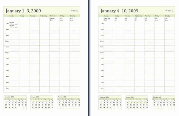 Microsoft Word Weekly Schedule Template Awesome Weekly Calendar Templates Microsoft Word Templates