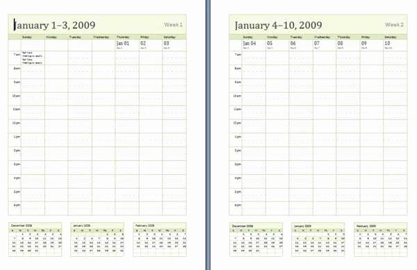 Microsoft Word Weekly Schedule Template Awesome Weekly Calendar Templates Microsoft Word Templates
