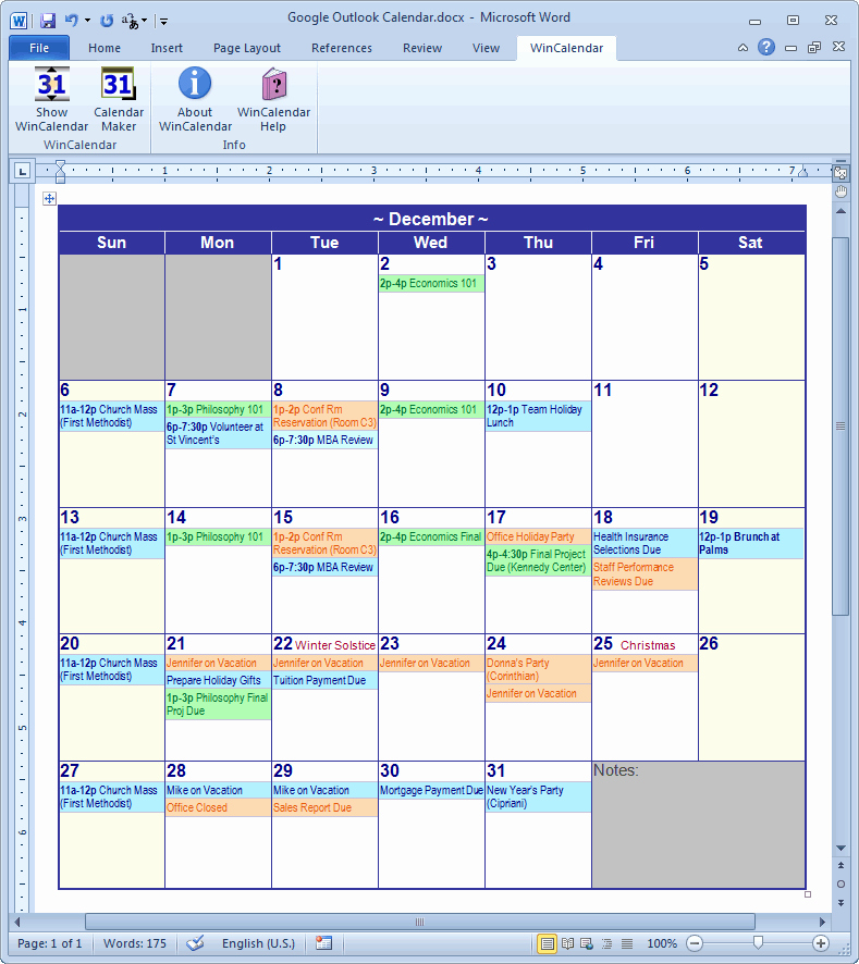 Microsoft Word Weekly Schedule Template Inspirational Calendar Creator for Microsoft Word with Holidays