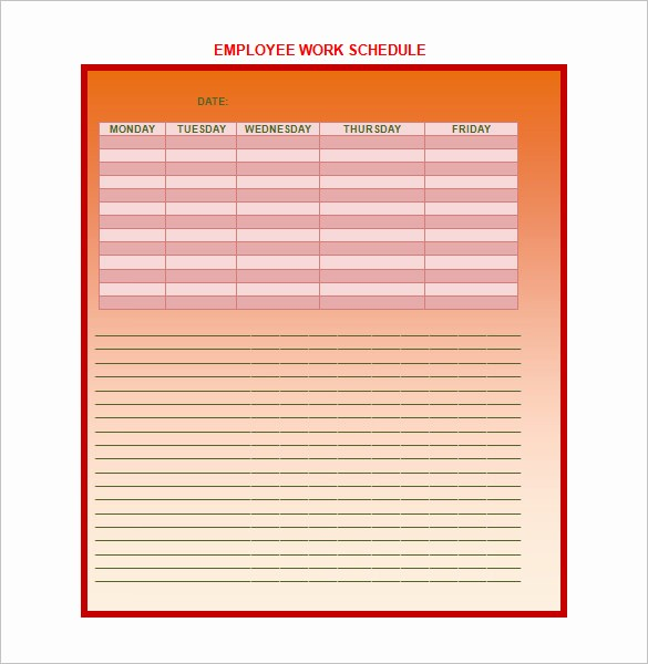 Microsoft Word Weekly Schedule Template Luxury 9 Weekly Work Schedule Templates Pdf Doc