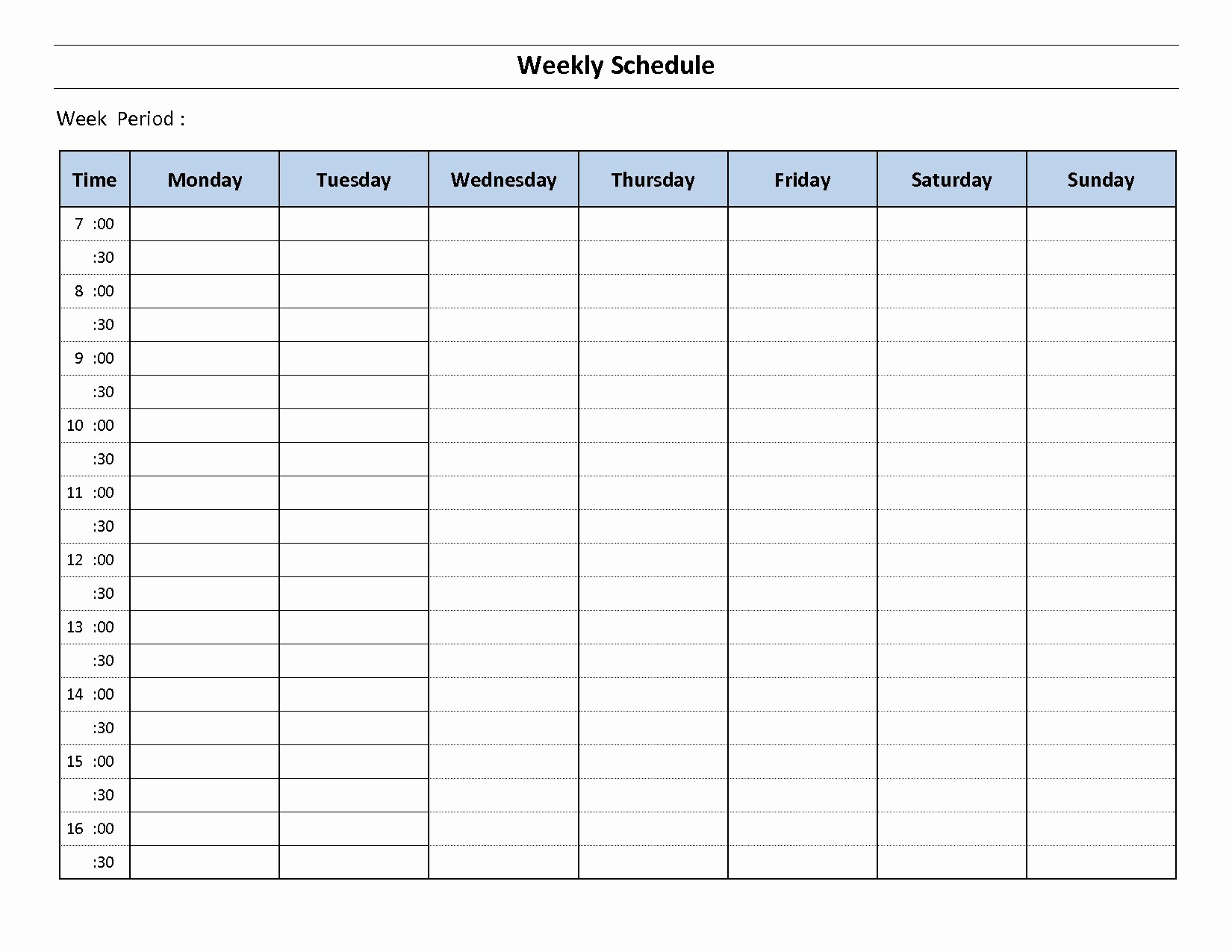 Microsoft Word Weekly Schedule Template Luxury Blank Weekly Calendar Template Microsoft Word Printable