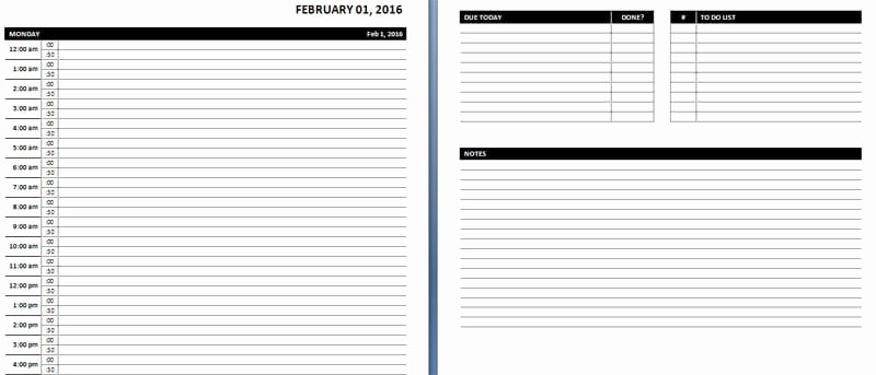 Microsoft Word Weekly Schedule Template New Daily & Weekly Ms Word Planner Templates