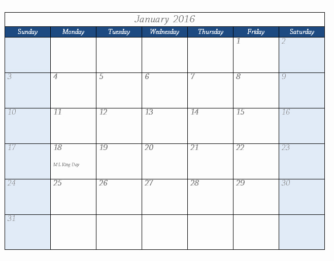 Microsoft Word Weekly Schedule Template Unique 2016 Calendar Template Templates for Microsoft Word