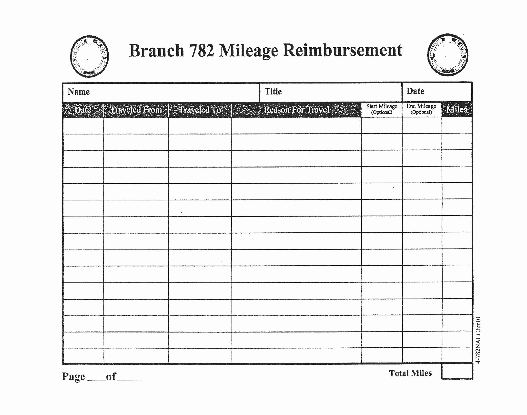 Mileage Log and Reimbursement form Elegant form Mileage Reimbursement form