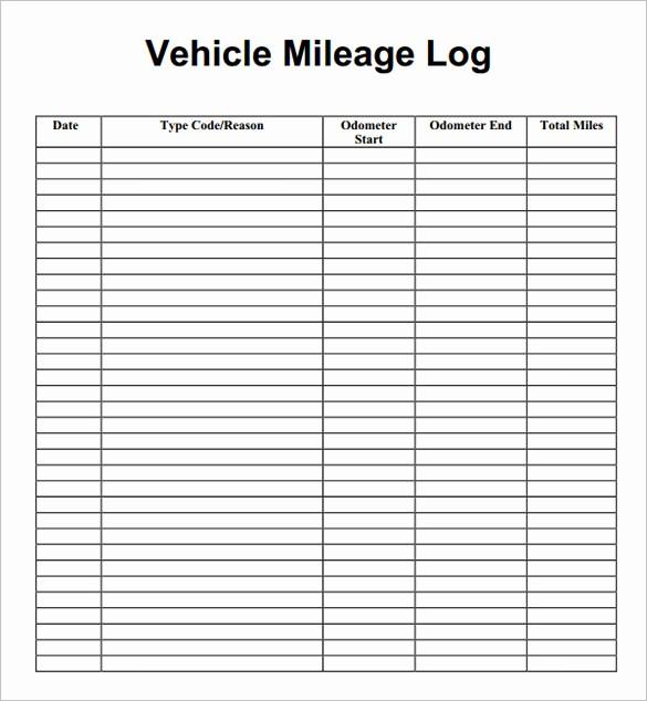 Mileage Log form for Taxes Elegant 8 Mileage Log Templates Free Word Excel Pdf Documents