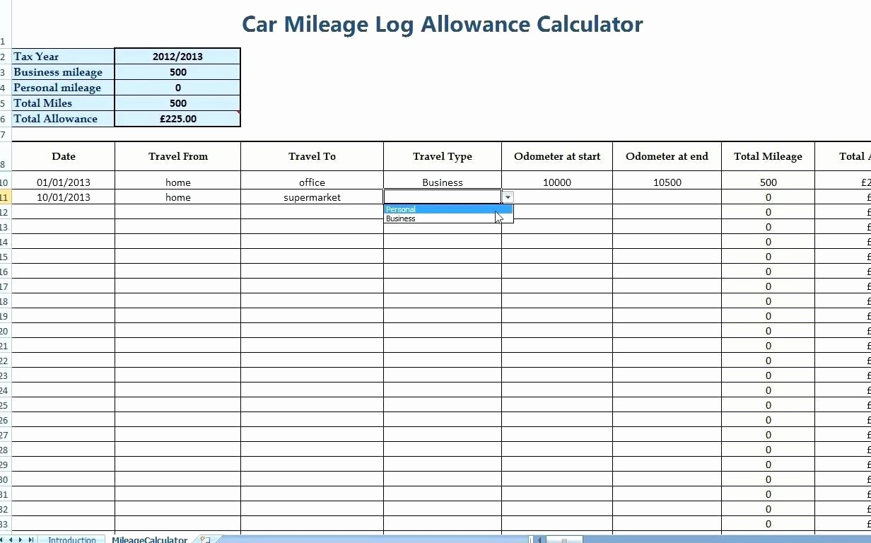Mileage Log form for Taxes Elegant Template Mileage Log Template